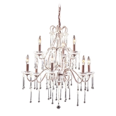 Crystal Chandelier in Rust Finish