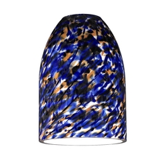 Dome Shade with Blue Art Glass - Lipless with 1-5/8-Inch Fitter Opening