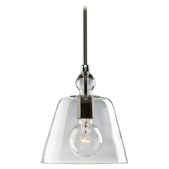 Progress Vintage Style Mini-Pendant Light with Clear Glass Shade