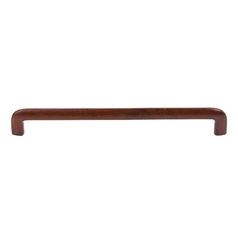Modern Cabinet Pull in True Rust Finish