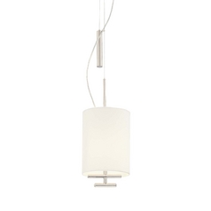 Adjustable Mini-Pendant with Fabric Shade