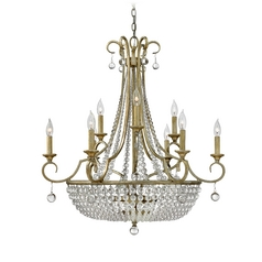 Fredrick Ramond Caspia Silver Leaf Pendant Light