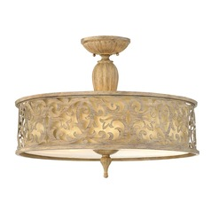 Frederick Ramond Carabel Brushed Champagne Semi-Flushmount Light