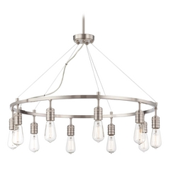 Chandelier in Brushed Nickel Finish