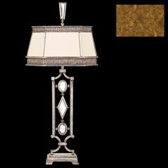 Fine Art Lamps Encased Gems Gold Leaf Table Lamp with Hexagon Shade