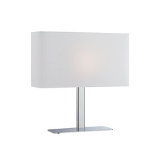 Modern Console & Buffet Lamp with White Shade in Chrome Finish