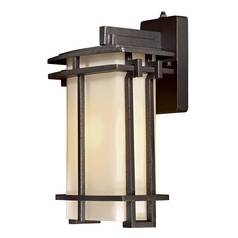 Outdoor Wall Light with White Glass in Aluminum Finish