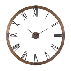 Clock in Hammered Copper Finish