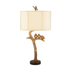 Table Lamp with White Shade