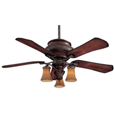 Ceiling Fan with Five Blades and Light Kit