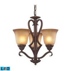 Elk Lighting Lawrenceville Mocha LED Mini-Chandelier