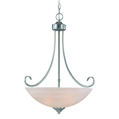 Craftmade Raleigh Satin Nickel Pendant Light with Bowl / Dome Shade