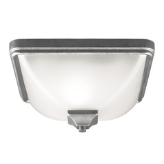 Sea Gull Lighting Irving Park Weathered Pewter Close To Ceiling Light