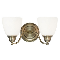 Livex Lighting Somerville Antique Brass Bathroom Light