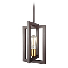 Feiss Lighting Finnegan New World Bronze Mini-Pendant Light