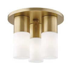 Mitzi Lola Aged Brass LED Flushmount Light