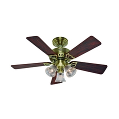 Hunter Fan Company the Beacon Hill Antique Brass Ceiling Fan with Light