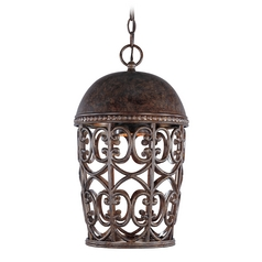 Outdoor Hanging Light in Burnt Umber Finish