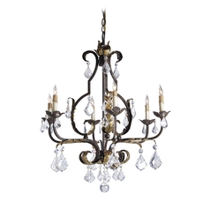 Chandelier in Venetian/gold Leaf/swarovski Crystal Finish