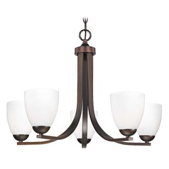 5-Light Chandelier in Bronze