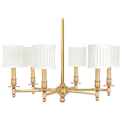 Brass chandeliers transitional lighting chandeliers chandelier with white shades in aged brass finish aloadofball Images