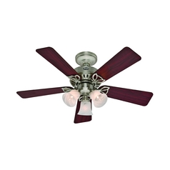 Hunter Fan Company the Beacon Hill Brushed Nickel Ceiling Fan with Light