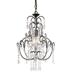 Minka Lighting, Inc. Single-Light Crystal Chandelier 3123-489