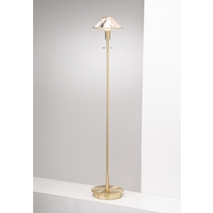 Holtkoetter Modern Floor Lamp with White Glass in Brushed Brass Finish