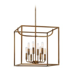 Designers Fountain Uptown Old Satin Brass Pendant Light
