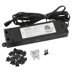 Progress Lighting Hide-A-Lite 4 Black Undercabinet Transformer