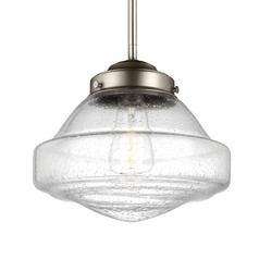 Feiss Alcott Satin Nickel Mini-Pendant Light