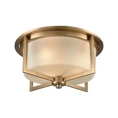 Elk Lighting Vancourt Satin Brass Flushmount Light