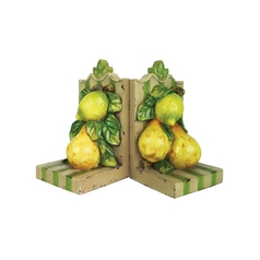 Decorative Fruit Bookend Set