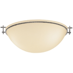 Three-Light Flush Mount Ceiling Light