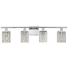 4 Light Crystal Bathroom Vanity Light