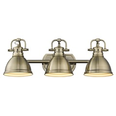 Golden Lighting Duncan Ab Aged Brass Bathroom Light