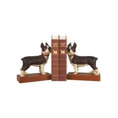 Decorative Boston Terrier Dog Bookends