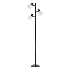 Black Floor Tree Lamp with Three Directional Lights