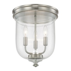 Seeded Glass Flushmount Light Brushed Nickel Capital Lighting