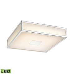 Alico Lighting Hampstead Chrome LED Flushmount Light