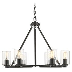 Golden Lighting Monroe Black Chandelier