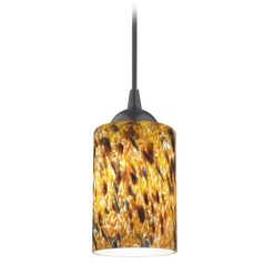 Design Classics Gala Fuse Matte Black Mini-Pendant Light with Cylindrical Shade