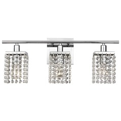 3-Light Crystal Bathroom Vanity Light
