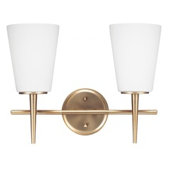 Sea Gull Lighting Driscoll Satin Bronze Bathroom Light