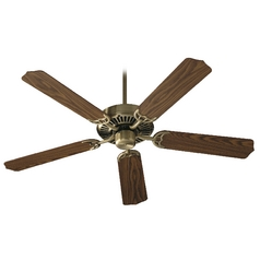Quorum Lighting Capri Antique Brass Ceiling Fan Without Light