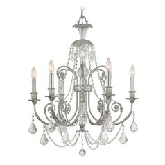 Crystal Chandelier in Olde Silver Finish