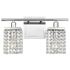 Delightful 2 Light Crystal Bathroom Vanity Light