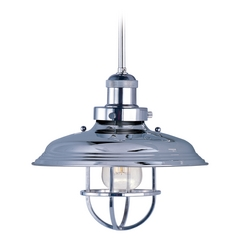 Maxim Lighting Mini Hi-Bay Polished Nickel Pendant Light