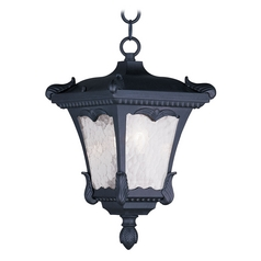 Livex Lighting Millstone Black Outdoor Hanging Light