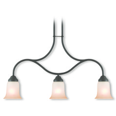 Livex Lighting Karysa Bronze Island Light with Bell Shade